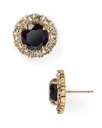 Kate Spade - Black Secret Garden Stud Earrings - Lyst