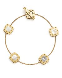 Roberto Coin | 18k Yellow And White Gold Five Element Pois Moi Bracelet With Mother-of-pearl And Diamonds | Lyst