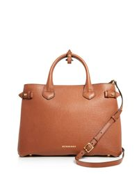 Burberry | Brown Medium Banner House Check Tote | Lyst