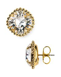 Sorrelli | Metallic Round Crystal Stud Earrings | Lyst