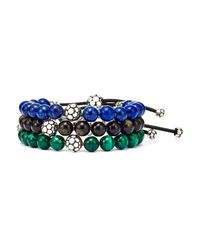 John Hardy - Green Dot Malachite & Sterling Silver Bead Bracelet - Lyst