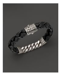 John Hardy - Metallic Men's Sterling Silver Classic Chain Gourmette Medium Link Id Bracelet - Lyst