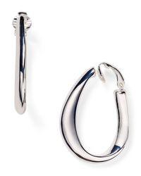 Pink Pony | Metallic Lauren Large Sculptural Clip-on Hoop Earrings | Lyst