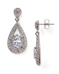 Nadri - Metallic Cubic Zirconia Drop Earrings - Lyst