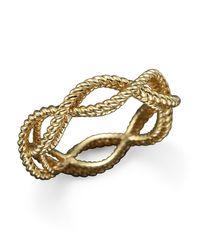 Roberto Coin | Metallic 18k Yellow Gold Single Row Twisted Ring | Lyst