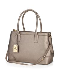 Ralph Lauren - Brown Lauren Satchel - Metallic Fairfield City Shopper - Lyst