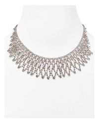 Carolee | Metallic Frontal Necklace, 16"