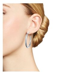 Ippolita - Metallic Sterling Silver Glamazon® #3 Hoop Earrings - Lyst