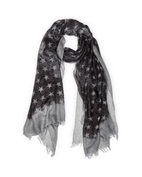 John Varvatos | Gray John Varvatos Star Print Scarf for Men | Lyst
