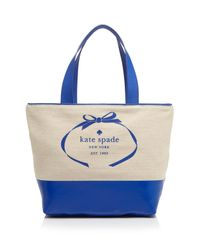Kate Spade - Blue Tote - Heritage Spade Logo - Lyst