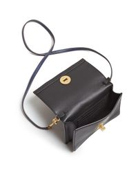 Tory Burch - Multicolor Monroe Turnlock Leather Chain Wallet - Lyst