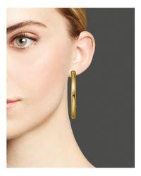 Ippolita - Metallic Glamazon® 18k Gold #3 Smooth Gold Hoops - Lyst