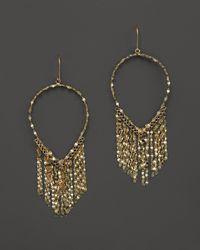 Lana Jewelry - Metallic 14k Yellow Gold Oval Fringe Earrings - Lyst