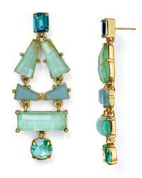 kate spade new york | Blue Beach Statement Earrings | Lyst