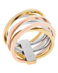 Michael Kors | Metallic Criss Cross Ring | Lyst