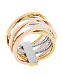 Michael Kors | Metallic Criss Cross Ring | Lyst