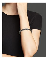 Roberto Coin - Metallic Ruthenium Plated Sterling Silver Stingray Bangle - Lyst
