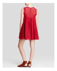 Free People - Red Dress - Tu Es La Mini - Lyst
