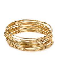 Aqua | Metallic Skinny Bangles, Set Of 18 | Lyst