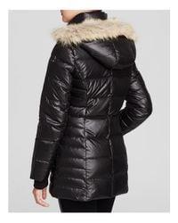 Marc New York | Black Paris Fur Trim Puffer Coat | Lyst
