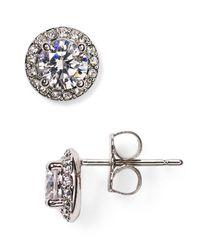 Nadri   Metallic Cubic Zirconia Stud Earrings   Lyst