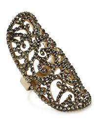 Roni Blanshay - Metallic Greige Lacey Ring - Lyst