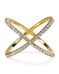 BaubleBar | Metallic Crystal Mason Ring | Lyst