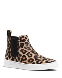 MICHAEL Michael Kors - Brown Keaton Calf Hair High Top Sneakers - Lyst