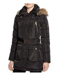 MICHAEL Michael Kors | Black Shell Puffer Coat | Lyst
