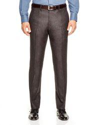 Valentini - Brown Flannel Melange Slim Fit Trousers for Men - Lyst