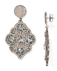 Roni Blanshay - Metallic Swarovski Crystal Drop Earrings - Lyst