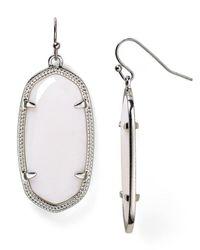 Kendra Scott | Metallic Deily Mother-Of-Pearl Statement Earrings | Lyst