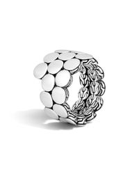 John Hardy - Metallic Dot Sterling Silver Double Coil Ring - Lyst