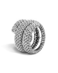 John Hardy - Metallic Classic Chain Sterling Silver Double Coil Ring - Lyst