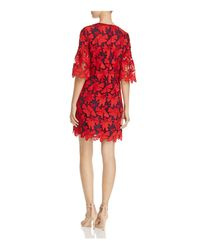 Tory Burch | Red Nicola Floral Lace Dress | Lyst