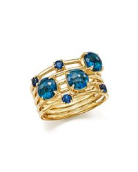 Ippolita | 18k Gold Lollipop® Constellation Ring In London Blue Topaz And Medium Blue Sapphire | Lyst
