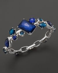 Ippolita | Blue Rock Candy Sterling Silver Multi Stone Link Bracelet In Dark Sea | Lyst