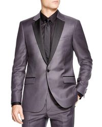 Theory | Gray Slim Fit Tuxedo Jacket for Men | Lyst