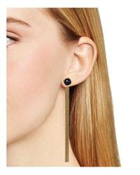Aqua - Metallic Arianna Drop Earrings - Lyst