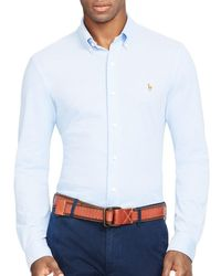 Polo Ralph Lauren - Blue Knit Oxford Regular Fit Button-down Shirt for Men - Lyst