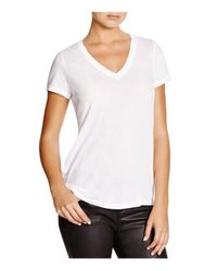 Splendid | White Very Light Jersey V-neck Tee | Lyst