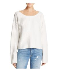 French Connection - White Riva Chunky Ribbed Sweater - Lyst