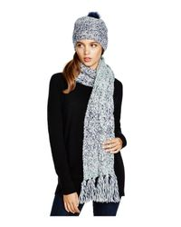 UGG - Blue Australia Grand Meadow Novelty Cable Fringe Scarf - Lyst