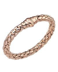 Chimento - Pink 18k Rose Gold Stretch Classic Collection Pyramid Link Bracelet With Diamonds - Lyst