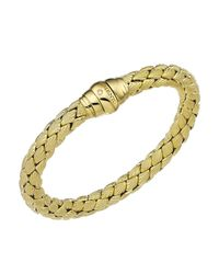 Chimento - Metallic 18k Yellow Gold Stretch Classic Collection Pyramid Shell Bracelet With Diamonds - Lyst