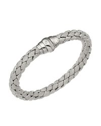 Chimento - 18k White Gold Stretch Classic Collection Pyramid Shell Bracelet With Diamonds - Lyst