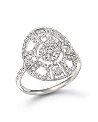 Meira T | Metallic 14k White Gold Antique Inspired Diamond Ring | Lyst