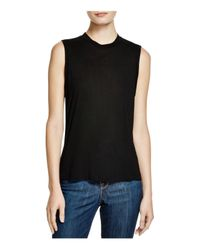 T By Alexander Wang | Black High-neck Jersey Tank | Lyst