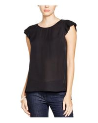 Joie - Black Nesrin Pleated Sleeve Silk Top - Lyst