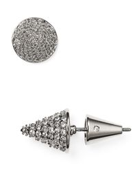 Eddie Borgo | Metallic Pave Cone Stud Earrings | Lyst